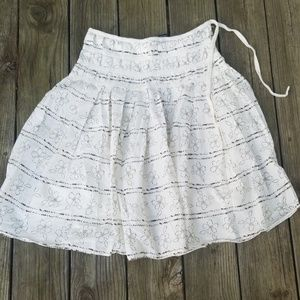 Cream and brown full skirt